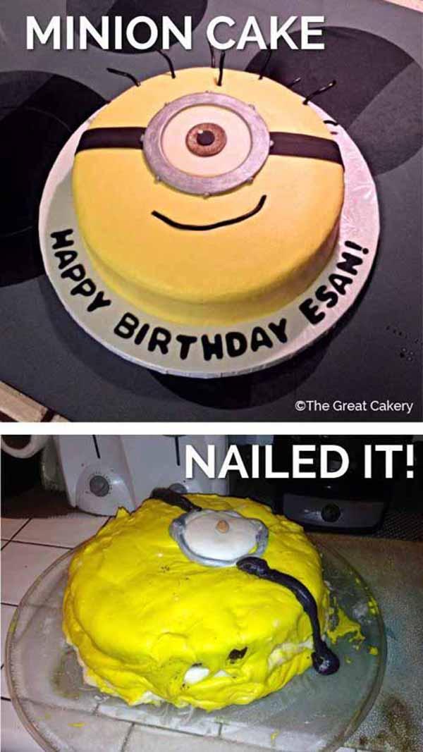 minion cake fail