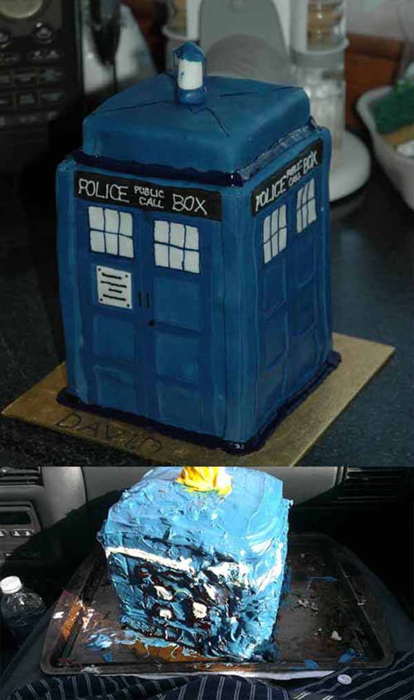 How To Make A Dr Who Tardis Cake