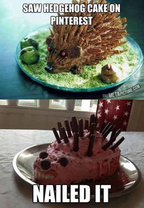 hedgehog pinterest nailed itfail