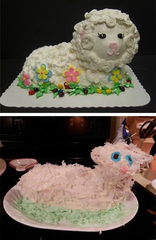lamb cake fail