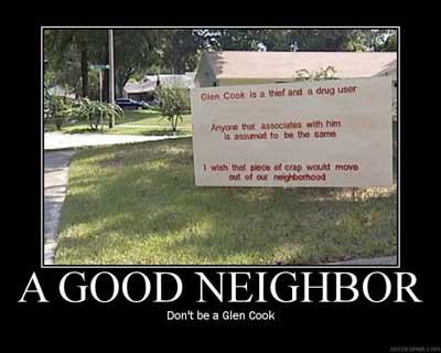 a good neighbor dont be a glen cook