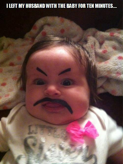 Draw Eyebrows On Your Baby Wallshit