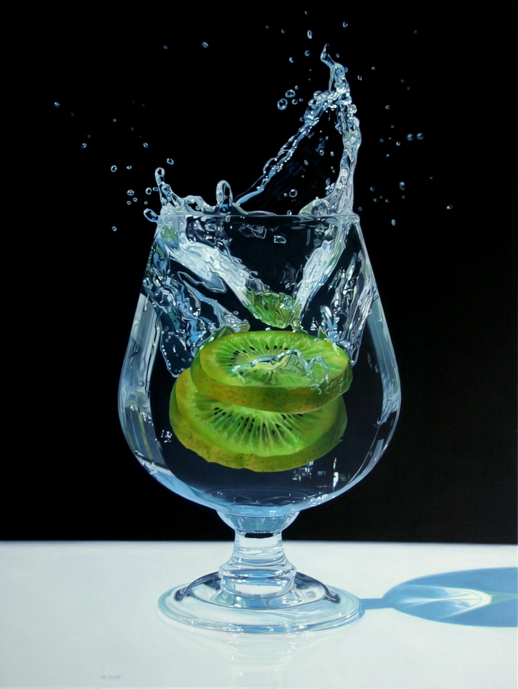 kiwi in water painting