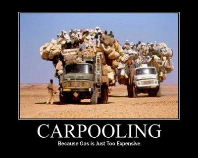 car pooling gas expensive
