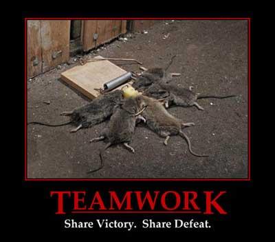 teamwork share defeat