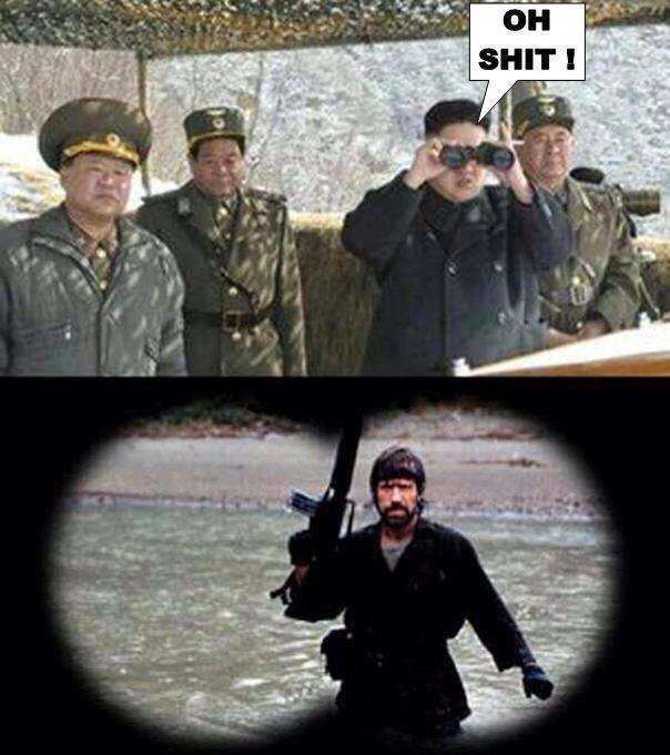 kim jong un chuck norris