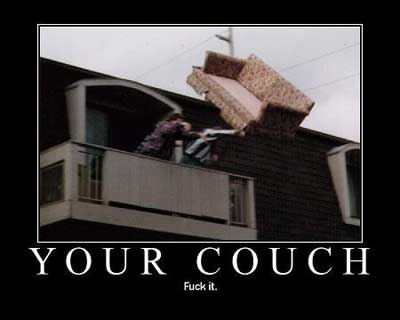 your couch frack it