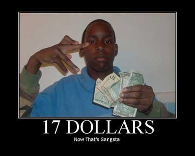17 dollars gangster