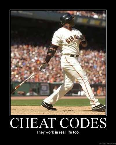 barry bonds steroids cheat codes