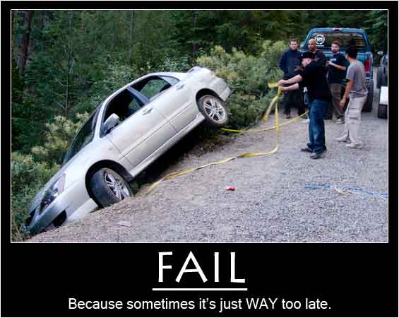 car fail poster