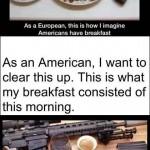 american gun breakfast