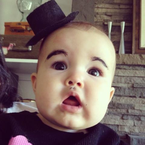 surprised eyebrows baby