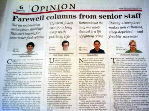 cunt farewell columns