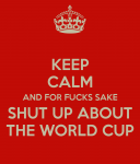 keep calm world cup sucks