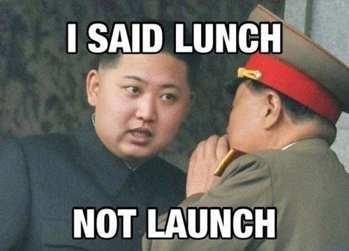 i said lunch not launch