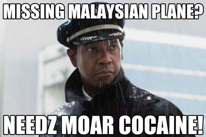 missing plane needs more cocain
