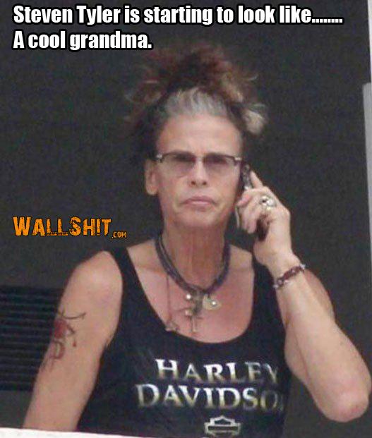 steven tyler looks like grandma