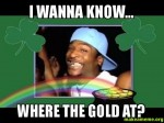 I Wanna Know Where The Gold At